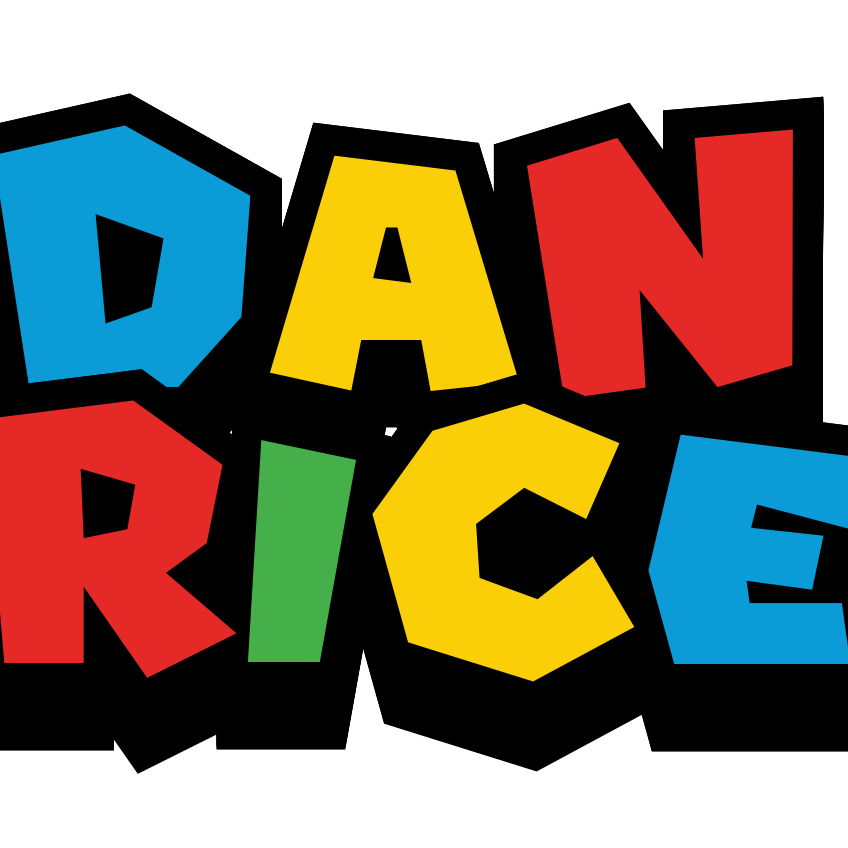 Dan Rice favicon in multicolour